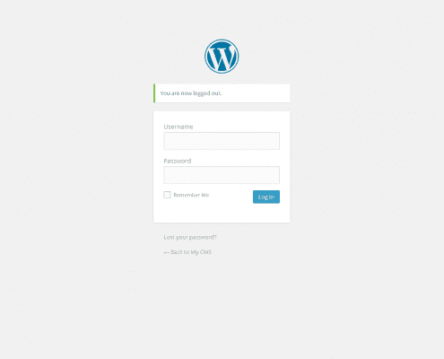 Printscreen WordPress Inlogpagina