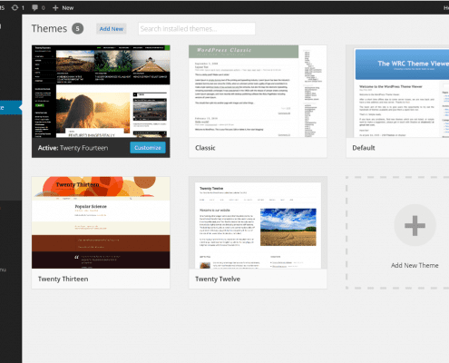 Printscreen WordPress Thema's